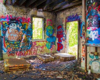 Wall mural Abandoned Graffit