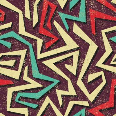Wall mural Absract graffiti seamless pattern. Vector