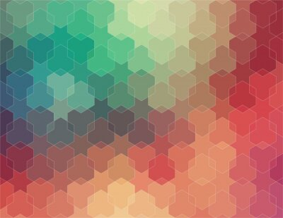 Wall mural Abstract 2D geometric colorful background