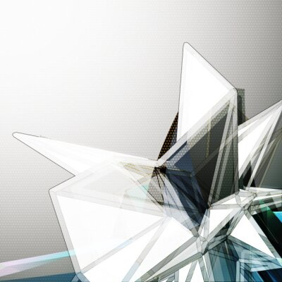 Wall mural Abstract 3D crystal vector background