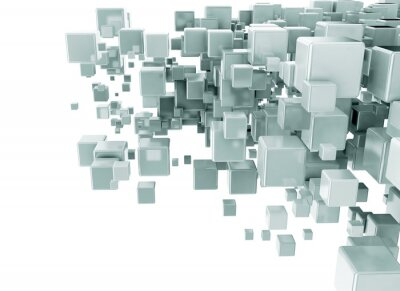 Wall mural Abstract 3d cubes background
