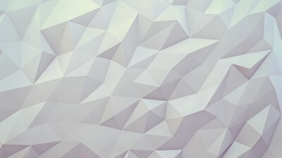 Wall mural abstract 3d render background. Techno triangular low poly background
