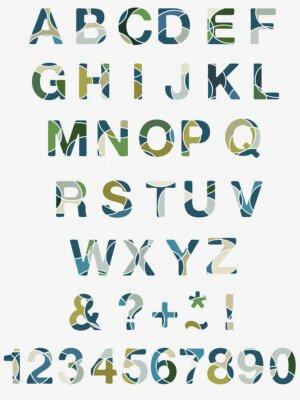 Wall mural Abstract Alphabet