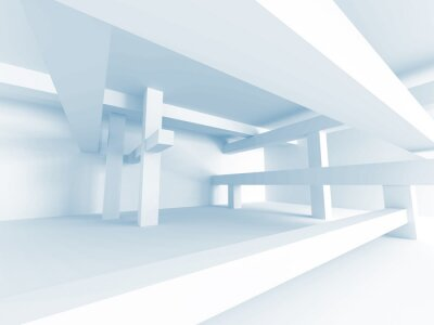 Wall mural Abstract Architecture Concept. Modern Building Interior Design