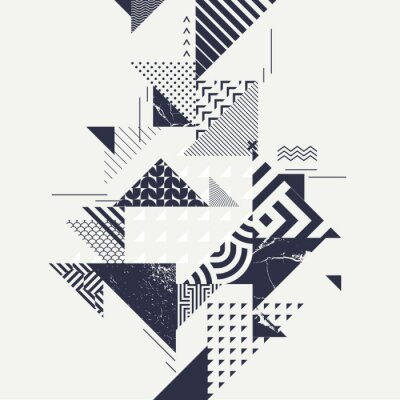 Wall mural Abstract art background with geometric elements
