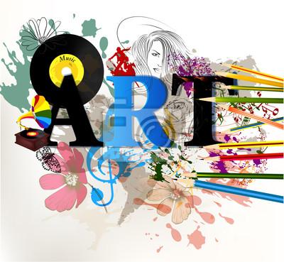 Abstract art vector conceptual background
