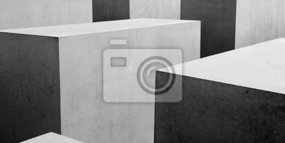 Wall mural Abstract b&w geometrical pattern
