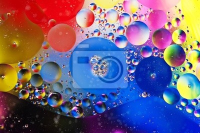 abstract background from bubbles on water level
