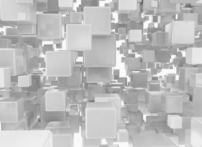 Wall mural Abstract background from metallic cubes
