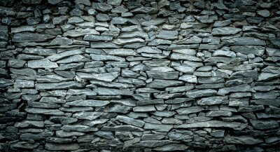 Wall mural Abstract background of Stone wall vintage cool tone