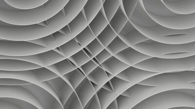 Wall mural Abstract background with spirals, 3 d render