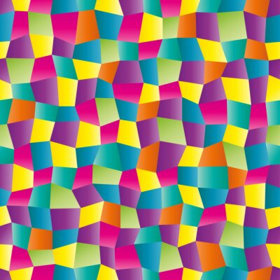 Wall mural Abstract color geometric pattern