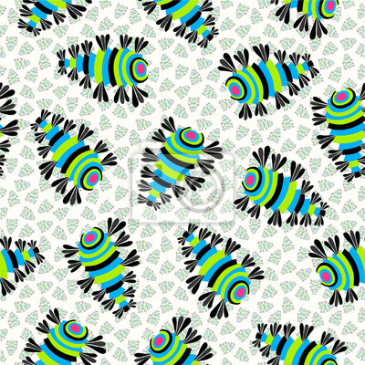 Wall mural abstract color pattern