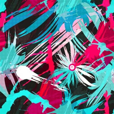 Wall mural abstract color pattern in graffiti style. Quality illustration for your design