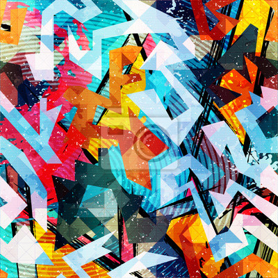 Wall mural abstract color pattern in graffiti style. Quality vector illustration for your design