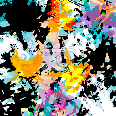 Wall mural abstract colored graffiti background
