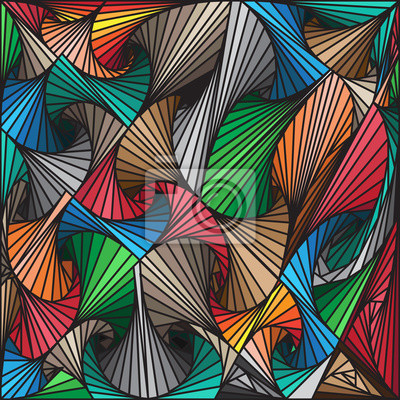 Wall mural Abstract colorful lines drawn patterns background, vector design