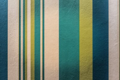 Wall mural Abstract colorful vintage background with stripe pattern on wall