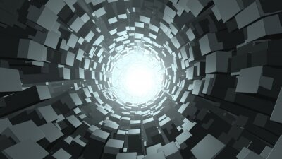 Wall mural Abstract cube wormhole