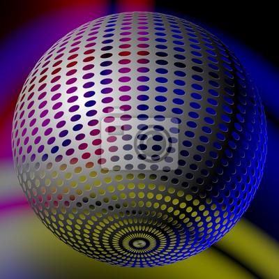 abstract disco ball