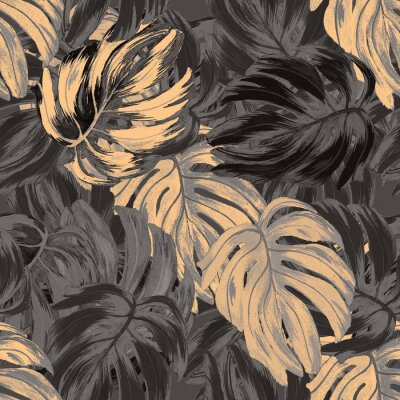 Wall mural Abstract elegance pattern with floral background.