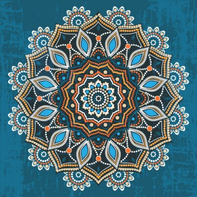 Wall mural Abstract ethnic round ornament