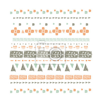 Abstract ethnic seamless pattern in style of primitive culture.