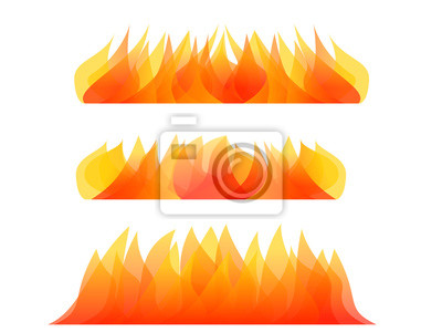 abstract fire element isolated on white vector