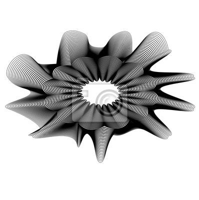 abstract flower head design vector black white