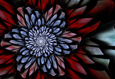 Wall mural Abstract fractal flower
