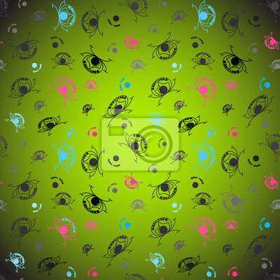 Wall mural abstract funny background