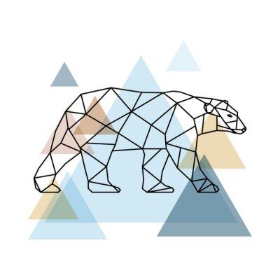 Wall mural Abstract geometric bear.
