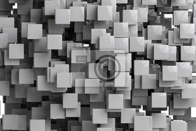 Wall mural Abstract geometric cubes background  3d render