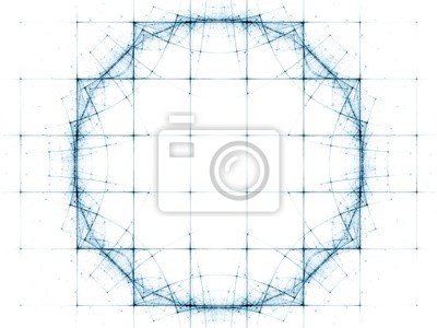 Abstract Geometric Space Grid
