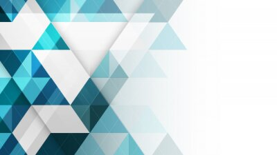 Wall mural Abstract geometric vector background.