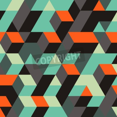 Wall mural Abstract Geometrical 3d Background. Can Be Used For Wallpaper, Web Page Background, Web Banners.