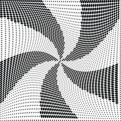 Wall mural Abstract  halftone dot vector