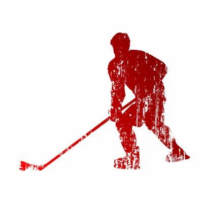Wall mural Abstract hockey player