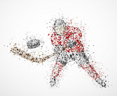 Abstract hockey player