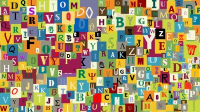 Wall mural Abstract letters background