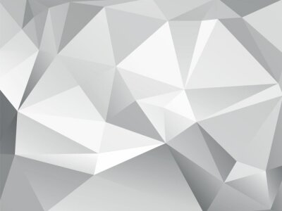 Wall mural abstract low poly geometric gray background
