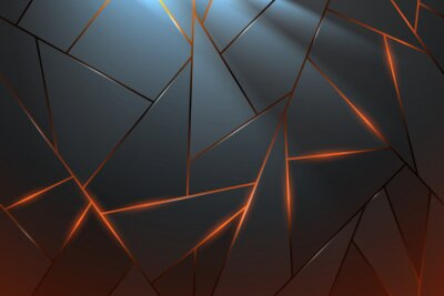 Wall mural Abstract metal background with light effect