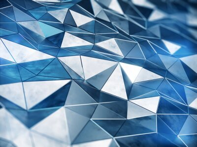 Wall mural Abstract metall background 3d