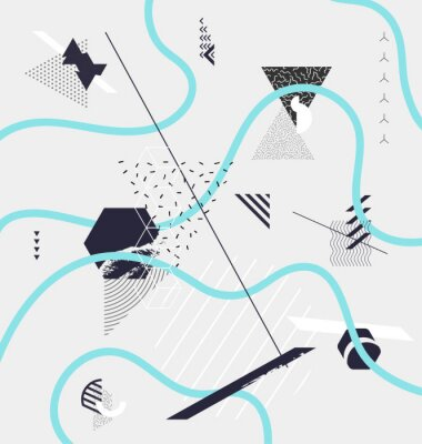Wall mural Abstract minimalistic geometric composition