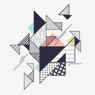 Wall mural Abstract modern geometric composition