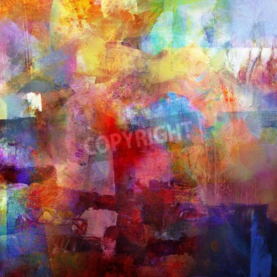 Wall mural abstract painted background - created by combining different layers of paint