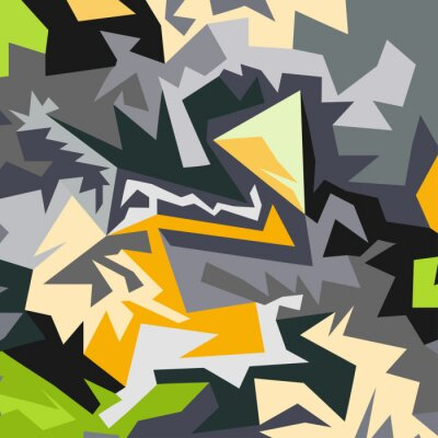 Wall mural Abstract pattern of polygons vector illustration