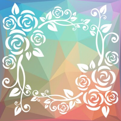 Wall mural abstract polygonal border