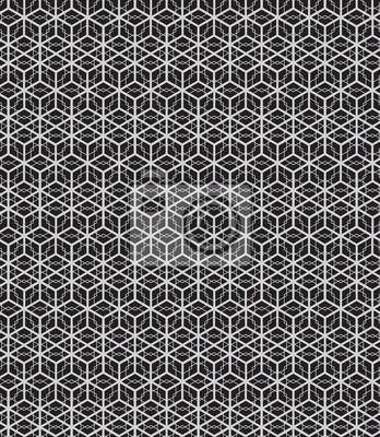 Wall mural Abstract seamless geometric pattern background and monochrome cu