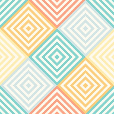 Wall mural Abstract seamless geometric pattern - rhombus